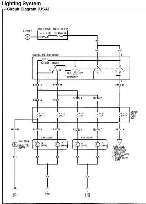 2000 honda accord headlight wiring  wiring diagram wave