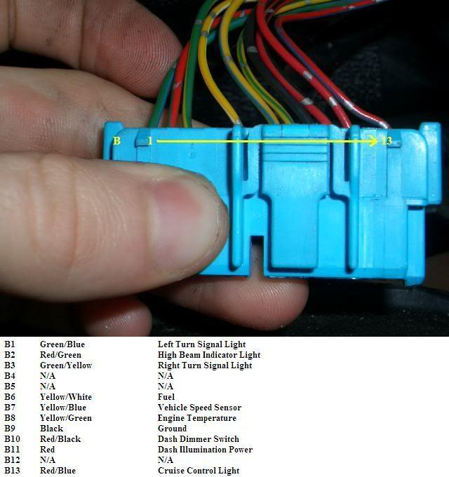 9497/9801 integra cluster into 9295/9600 civic wiring
