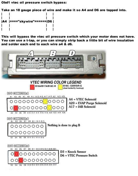 Famous vtec wiring diagram pictures inspiration electrical Obdo to OBD1 Jumper Harness OBD1 ECU Pinout GSR B16 OBD1 Converted to OBD2A on obd1 vtec wiring diagram