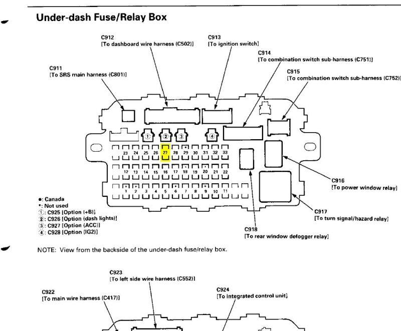 2005 honda crv interior light fuse. Black Bedroom Furniture Sets. Home Design Ideas