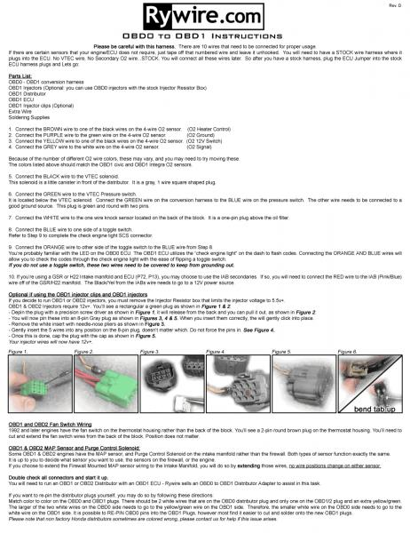 Obd1 Wiring Harness Diagram - Wiring Diagram
