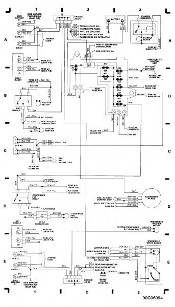 wiring diagrams  hondatech  honda forum discussion