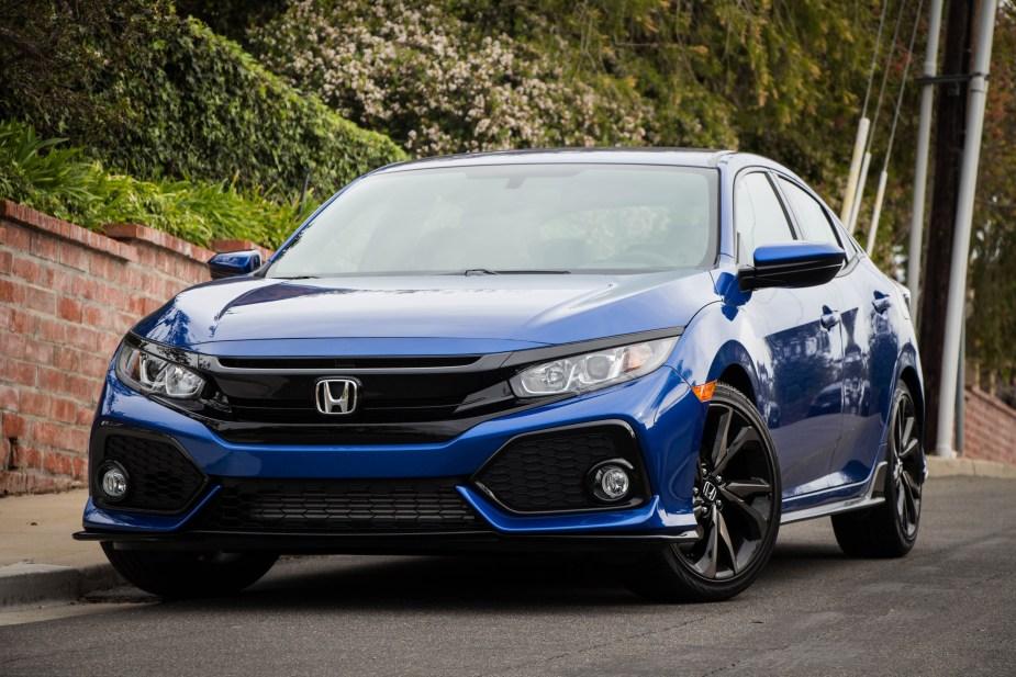 Honda-tech.com 2017 Honda Civic Sport Mazd3 hatchback comparison review