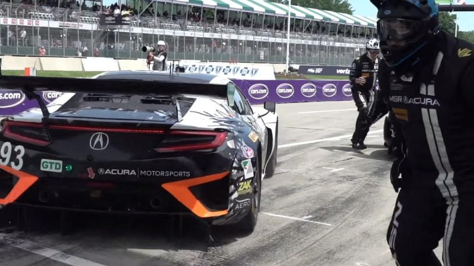 Honda-tech.com Honda Acura NSX GT3 IMSA Weathertech Sportscar racing series first place