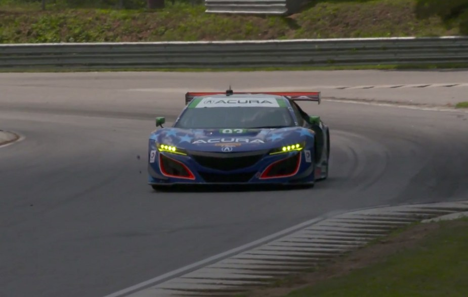 Honda-tech.com The Acura NSX GT3 has made an impressive debut in IMSA racing.