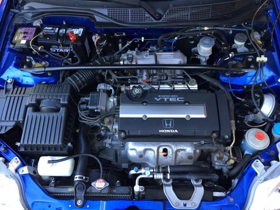 Honda-tech.com 1999 Electron Blue EM1 Civic Si Sale B16A