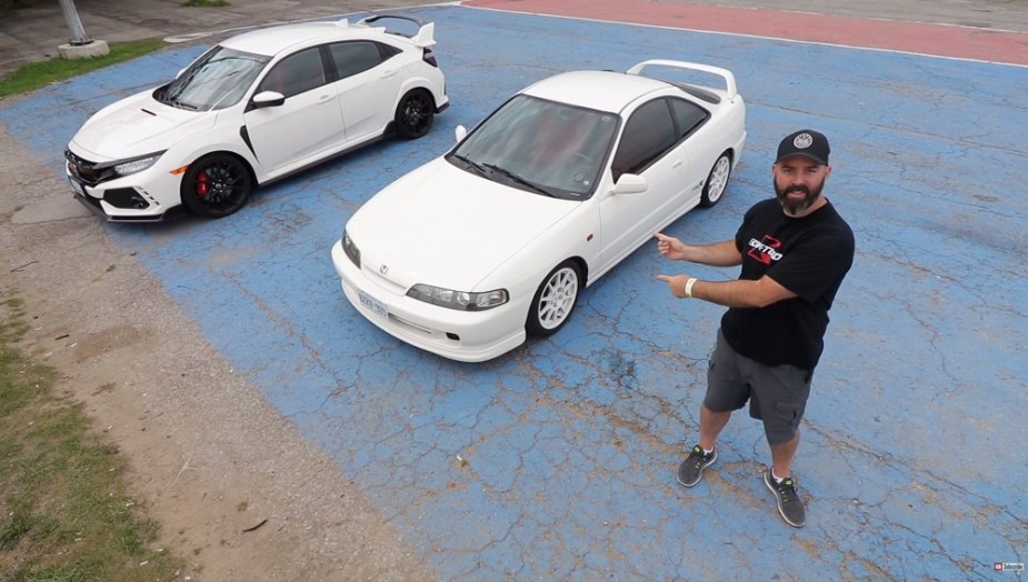 Honda-tech.com Speed Academy Integra Type R vs. Civic Type R