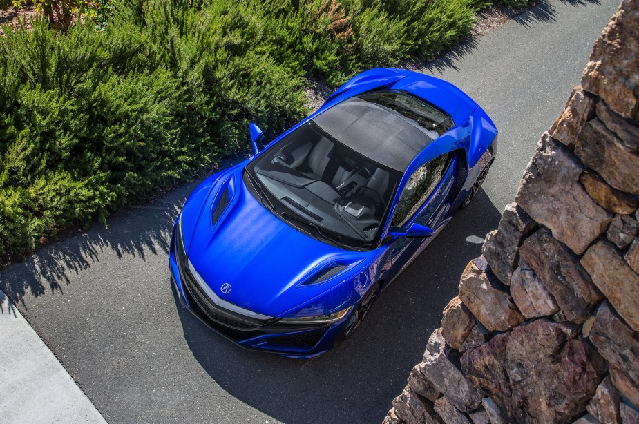 2017 acura nsx blue above