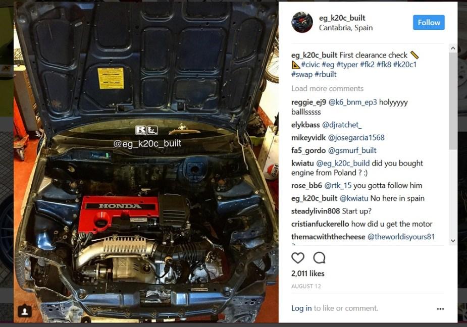 Honda-tech.com K20C EG Civic Hatch Civic Type R Engine Swap