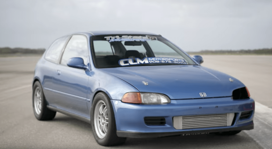 All wheel drive Civic drag racer