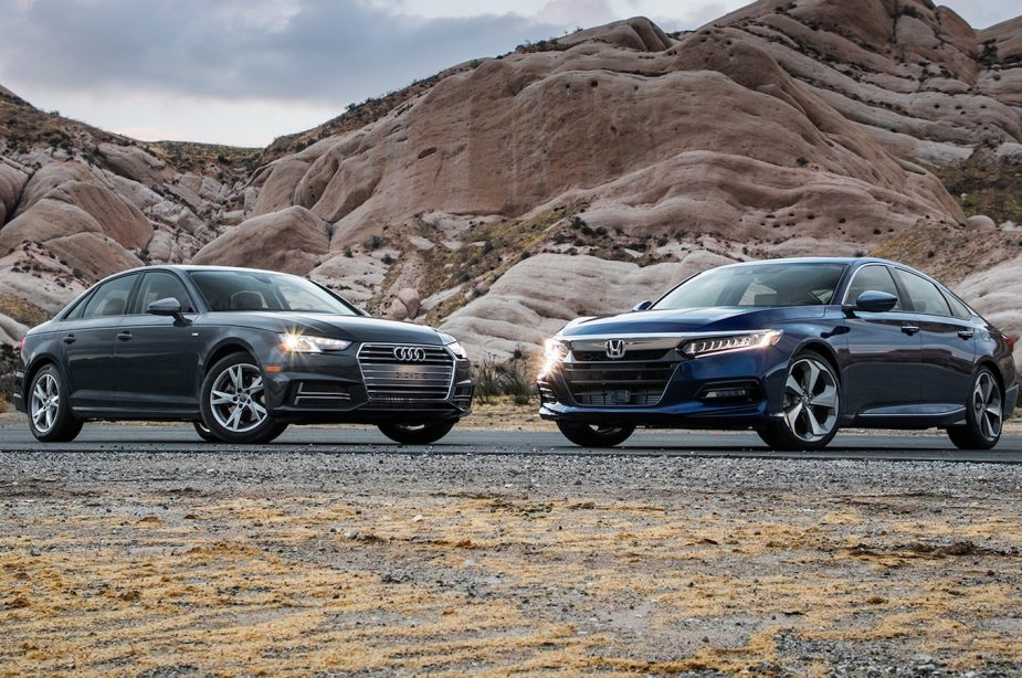 2018 Honda Accord and 2018 Audi A4