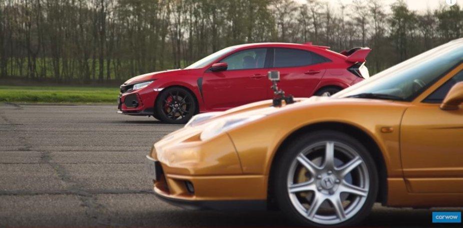 NSX Vs Civic Honda Stopping