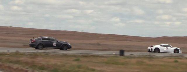 Acura NSX Walks Lexus IS F