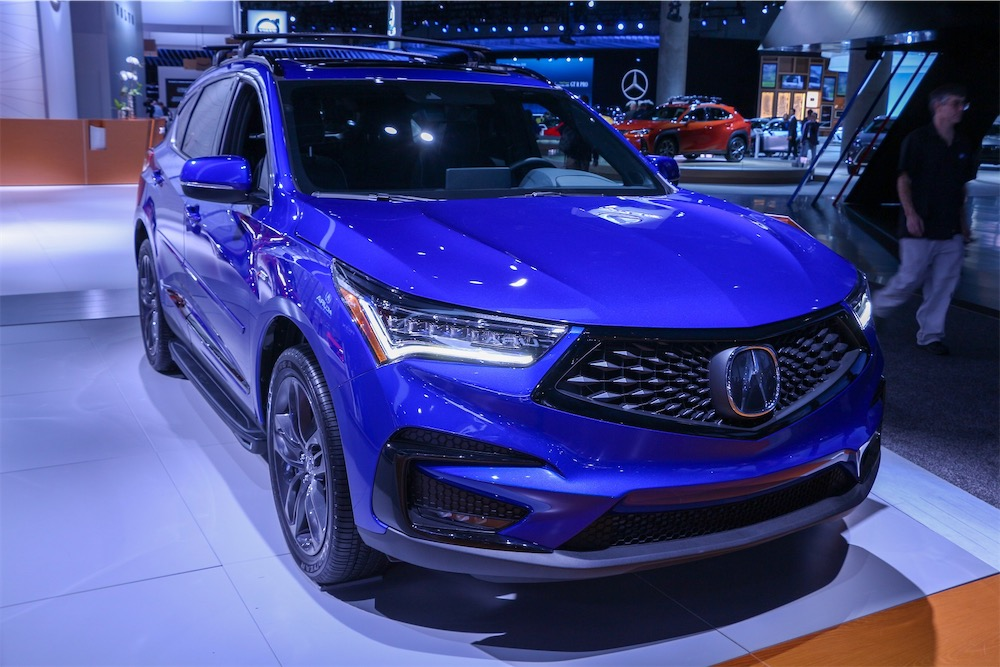 Acura RDX A-Spec in blue.