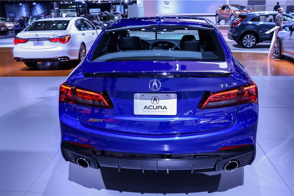 Acura TLX A-Spec in blue.