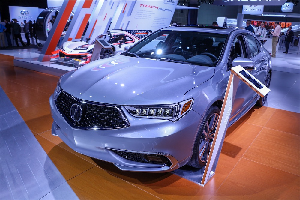 Acura TLX in silver.