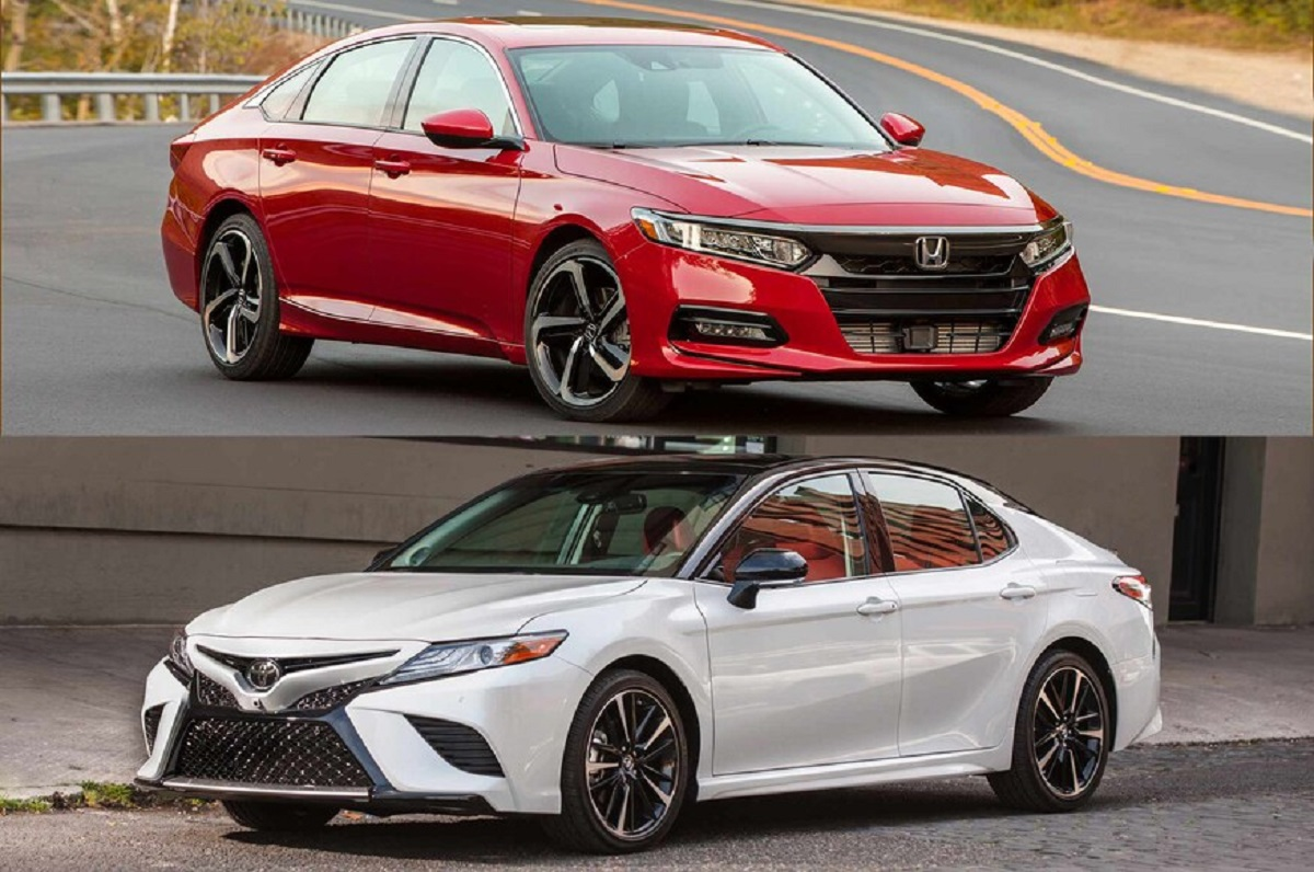 2021 Toyota Camry vs. 2021 Honda Acord front
