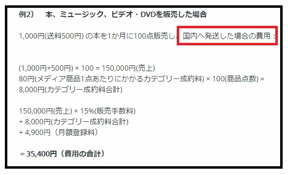 FBA海外発送プログラム・メディア系商品手数料3-1