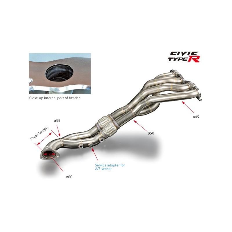 toda racing exhaust manifold header civic type r fn2
