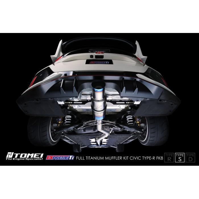 tomei titanium type s exhaust expreme ti civic type r fk8