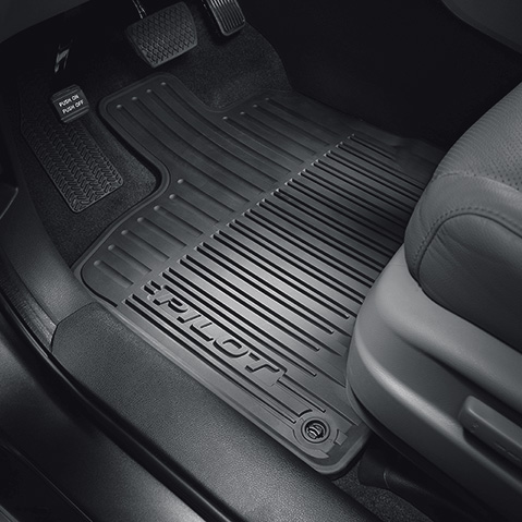 Front /& Rear with Heelpad /& Anti-Slip Nibs Backing Trim-to-Fit Heavy Duty Rubber Floor Mats for Car SUV Truck /& Van-All Weather Protection
