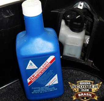 Liquido de Arrefecimento Honda e Reservatório Honda LEAD 110