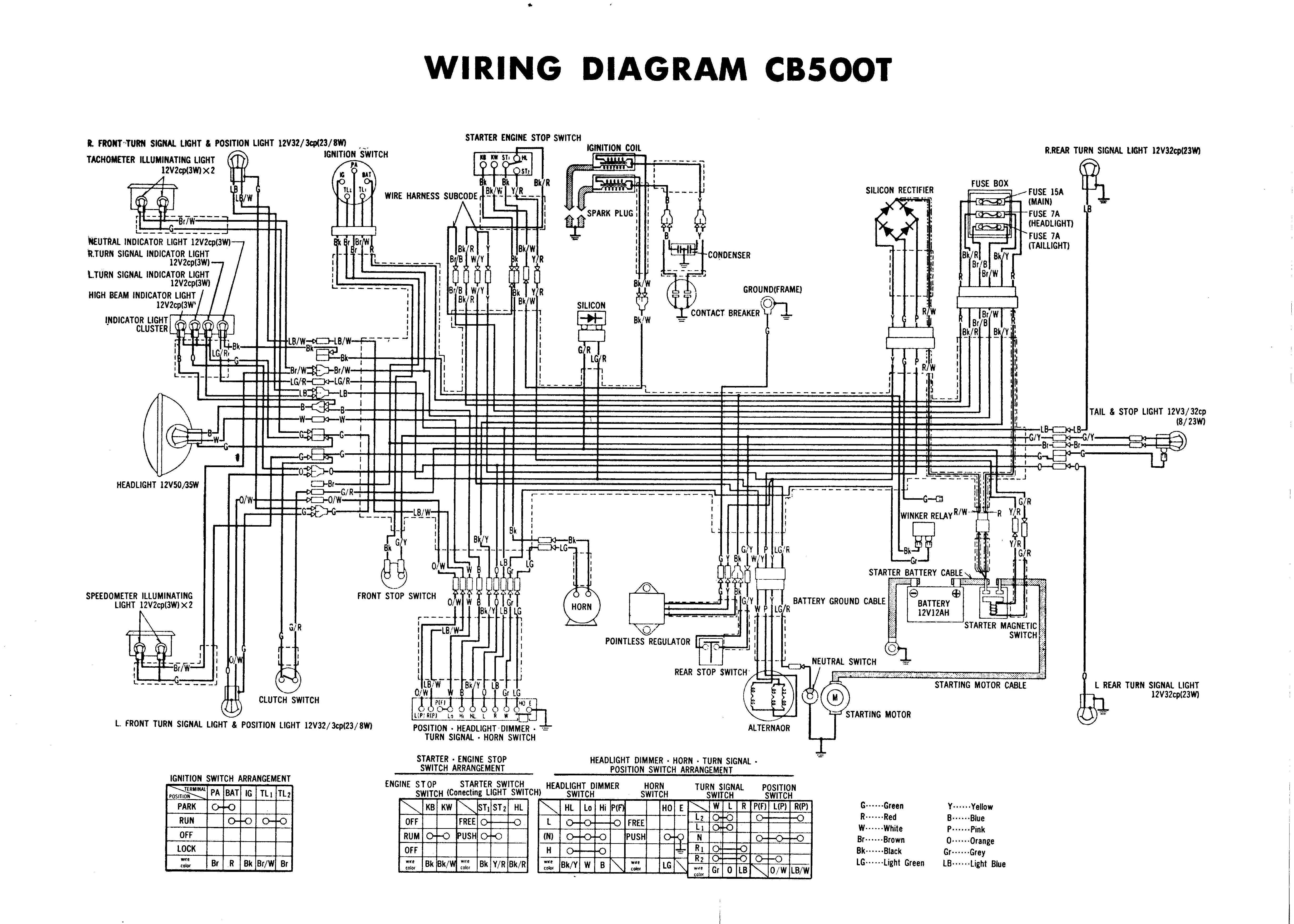 Have High Quality CB500T Wiring Diagram