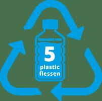 5 pet flessen gerecycled