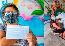 Adultos mayores de Cedros ya reciben vacunas donadas por El Salvador