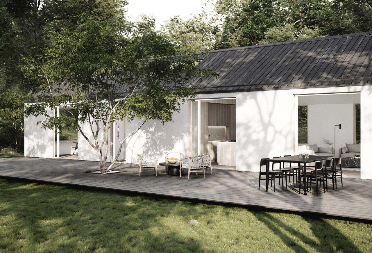 esthétique et responsable terrasse maison honei sim house