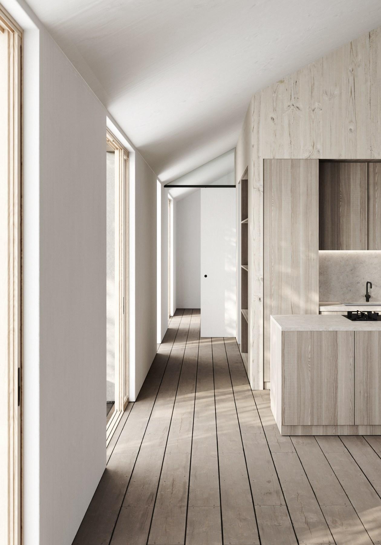 fiable esthétique et responsable couloir maison honei sim house