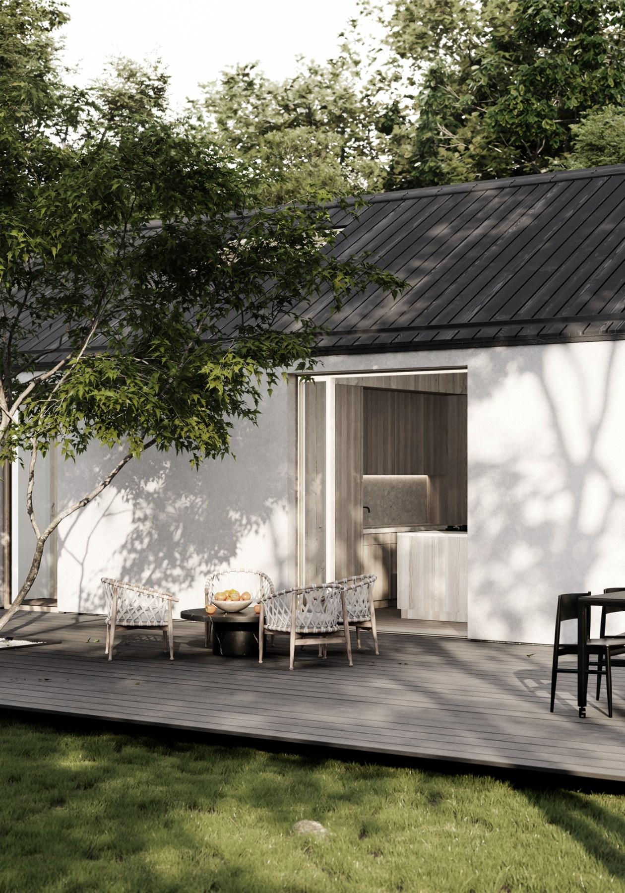 maison honei sim house fiable esthétique et responsable terrasse