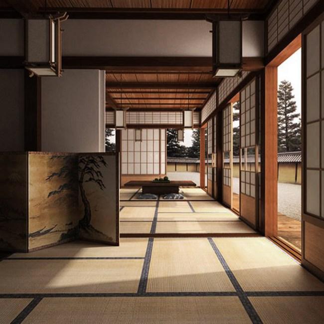 intérieure architecture traditionnelle japonaise