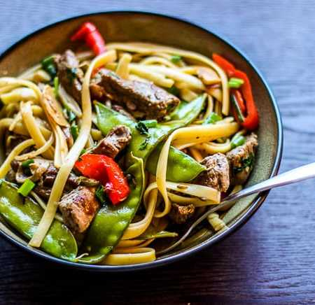 Steak and Veggies Noodle Stir Fry