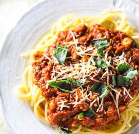 Spaghetti with Beef Marinara