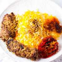 Stovetop Beef Kabob and Persian Rice (Chelow Kabob Deegi)
