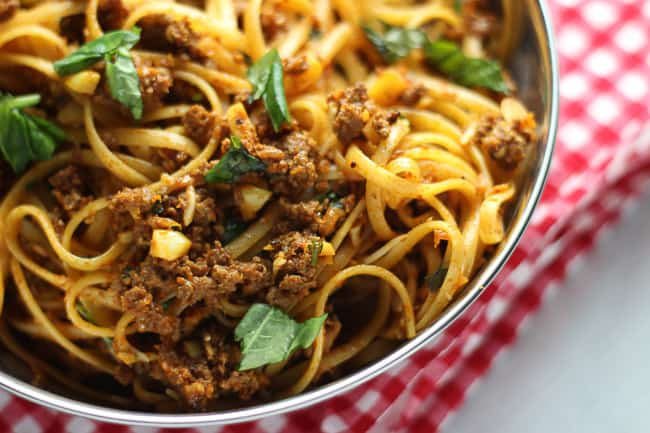 how to cook pasta with beef mince