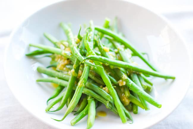 Tangy Garlic Dijon Vinaigrette with French Green Beans
