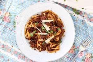 Braised Beef Shank Pasta-3