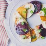 organic beet and fresh mozzarella with watercress salad-6