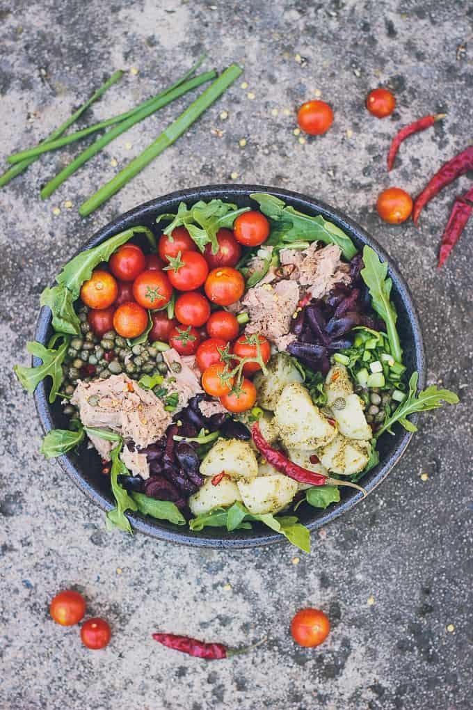 mediterranean tuna and potato summer salad-18