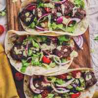 BEST Lamb Kebab Recipe with a Tangy & Creamy Dressing