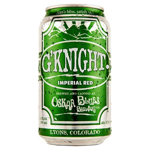 Craft Beer Review of Oskar Blues Brewery's G'Knight Imperial Red