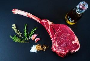 Tomahawk steak grass fed beef
