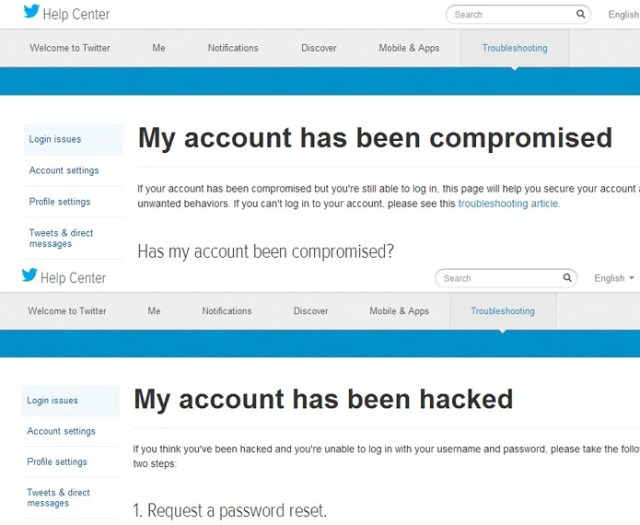 check for hackers on twitter help center