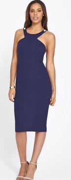 rochelle-humes-forvery-contrast-strap-bodycon-dress