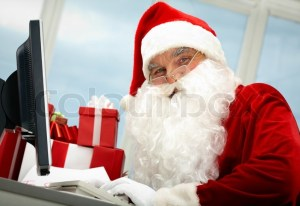 6715557-busy-santa