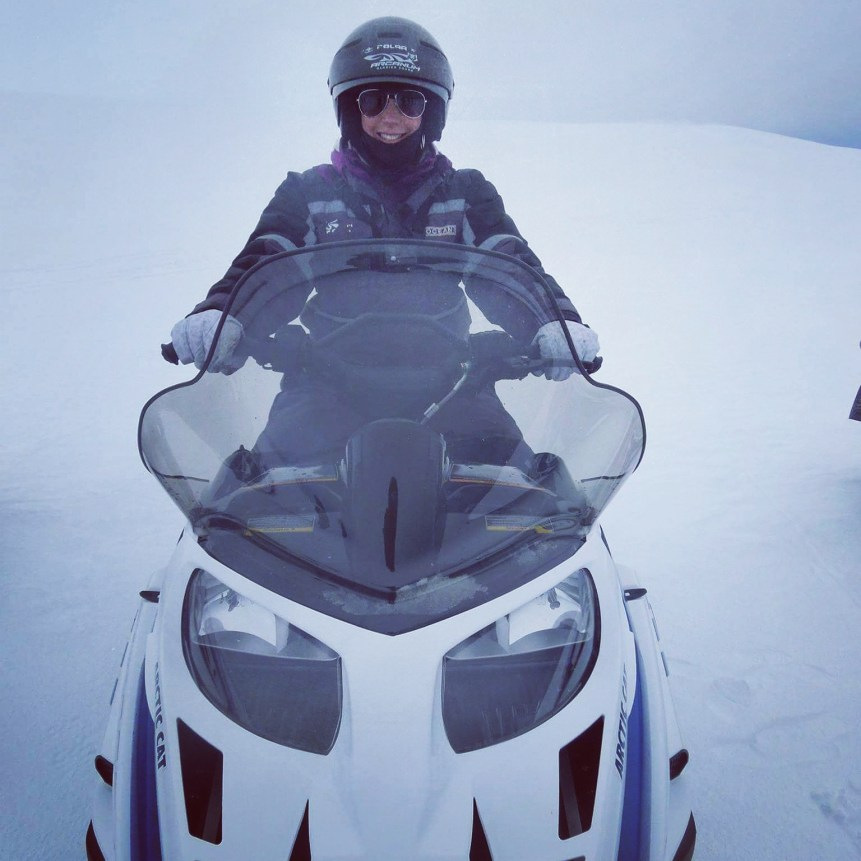 Snow mobiling in Iceland