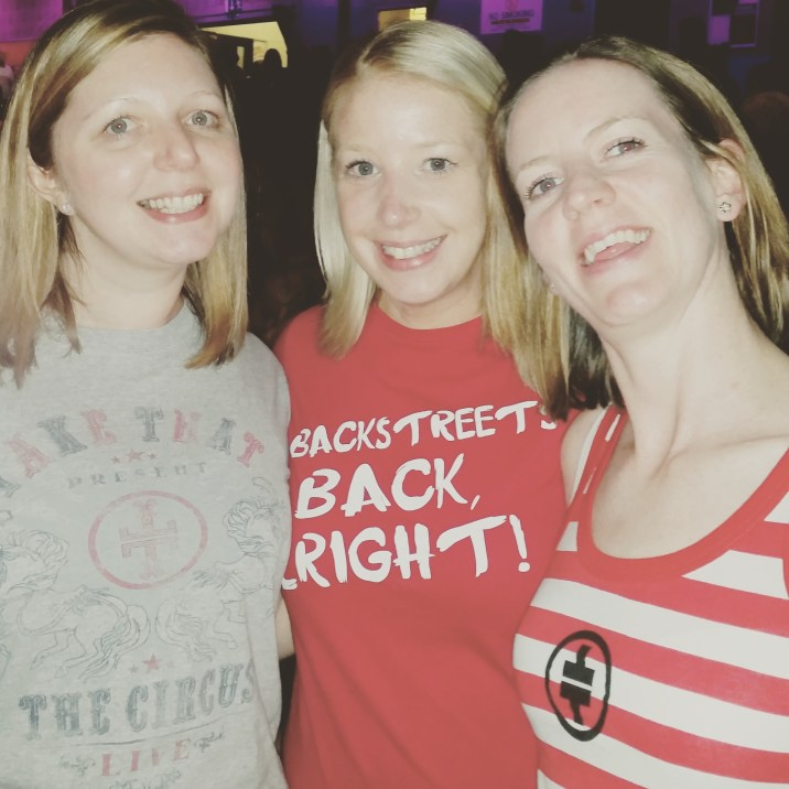 Getting the t-shirt memo wrong at the Take That concert