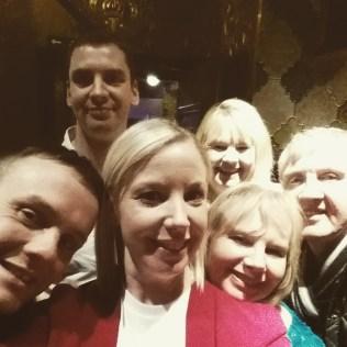 Family gin drinking for Mum's birthday